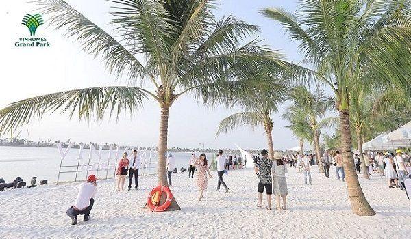Bãi biển nhân tạo VInhomes Grand Park