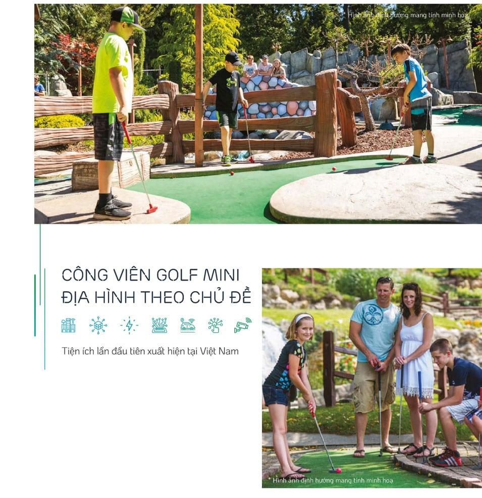 Công viên golf mini theo địa hình.