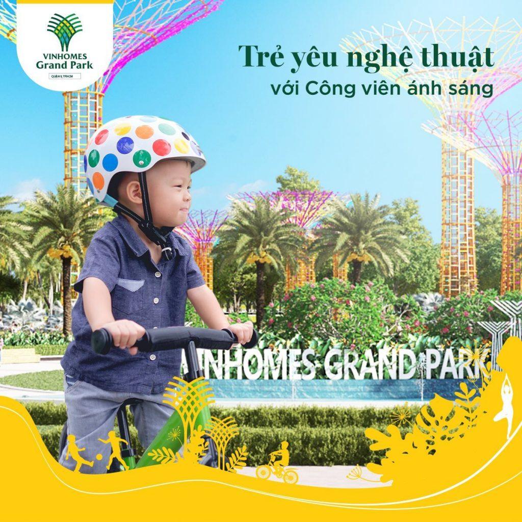 Khám phá công viên tại Vinhomes Grand Park