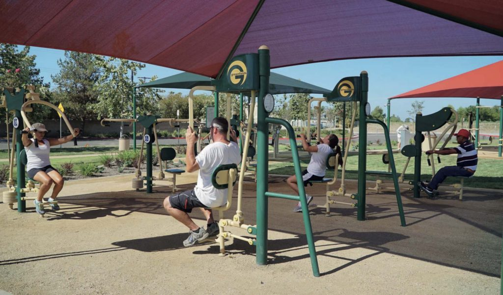 Khu tập gym ngoài trời tại VInhomes Grand Park