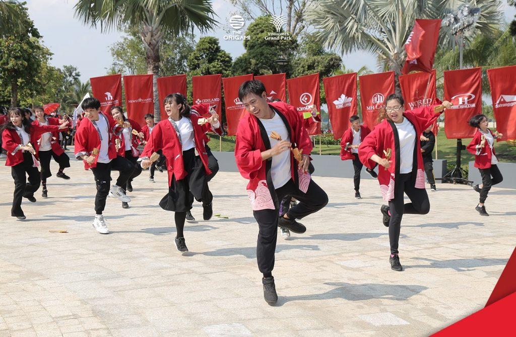 Lễ hội tại vườn Nhât Bản Origami