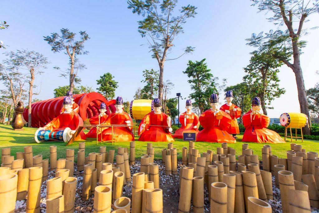 Nghệ thuật xếp giây Origami Vinhomes Grand Park