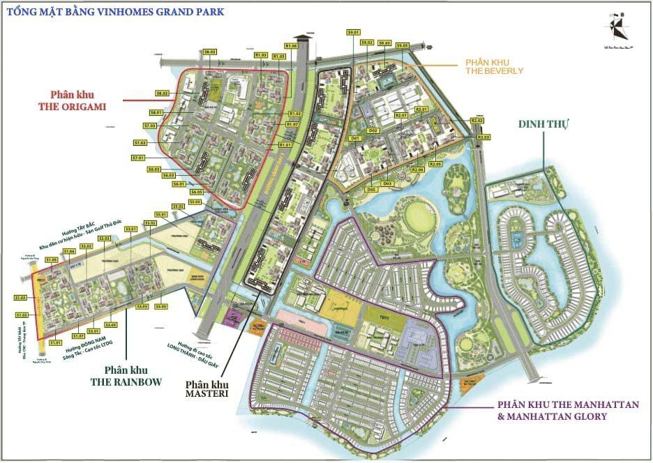 mặt bằng tổng dự án Vinhomes Grand Park quận 9